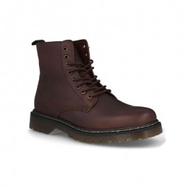 Robust leather men's ankle boots