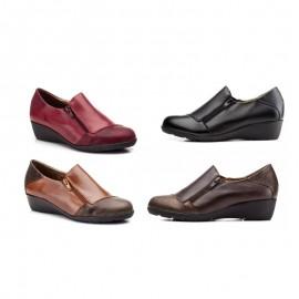 Zapatos Mujer Cómodos Cremallera