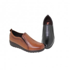 Women's comfortable leather loafers