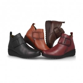 Comfortable velcro ankle boots
