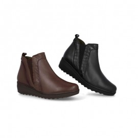 Comfortable leather women's ankle boots