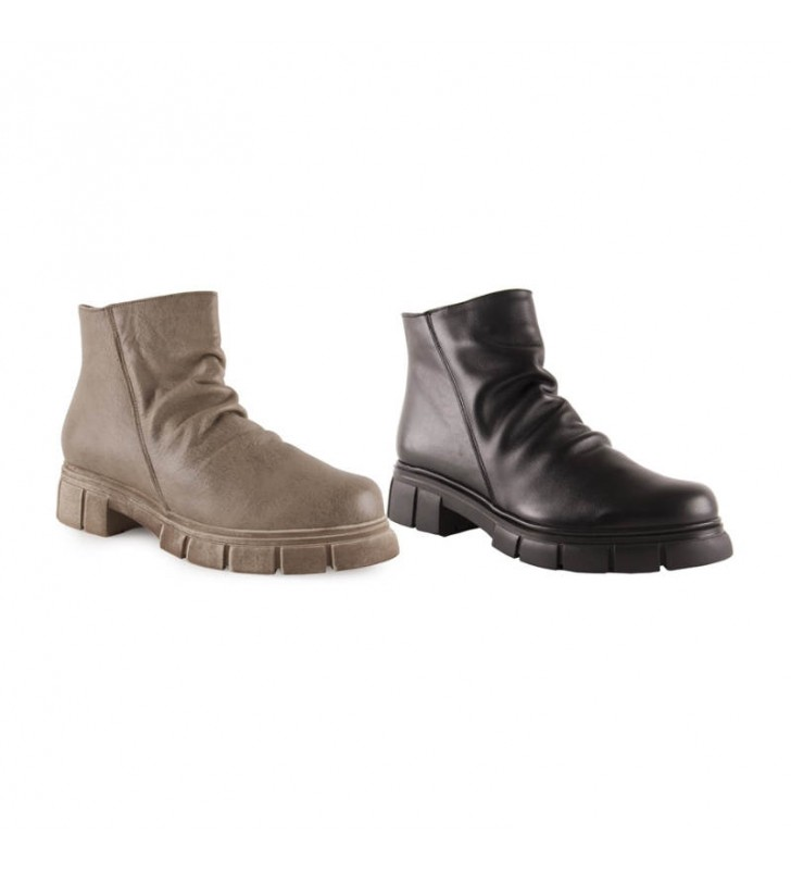 Women's casual leather ankle boots