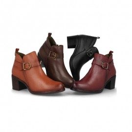 Ankle boots woman dress buckle