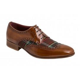 Zapatos Vestir Textil Cuero