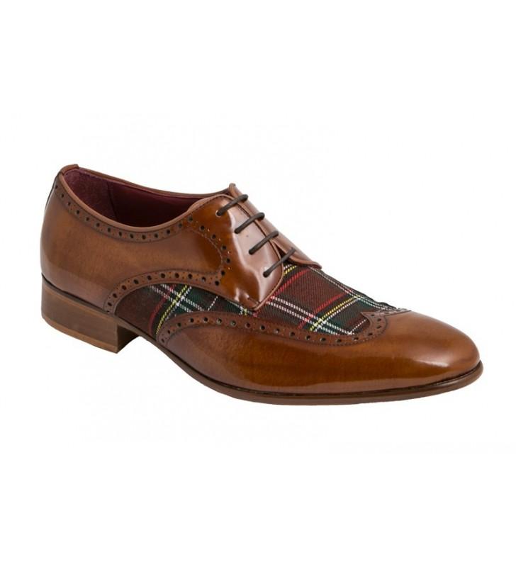 Zapatos Vestir Textil Cuero 1