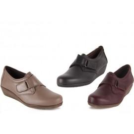 Zapato Mujer Confort Piel Velcro