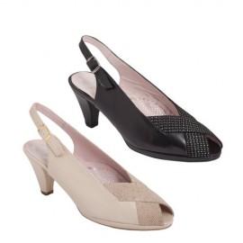 Zapatos mujer ancho especial beig