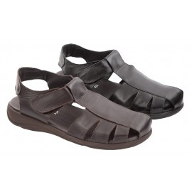 Leather sandals with Velcro 1