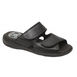 Sandals black leather man 1