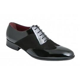 Zapatos Novio Ante y Charol Negro