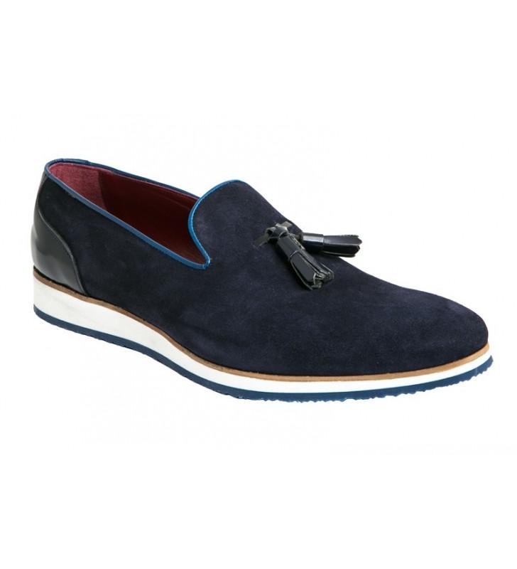 Zapatos hombre serraje azul 1