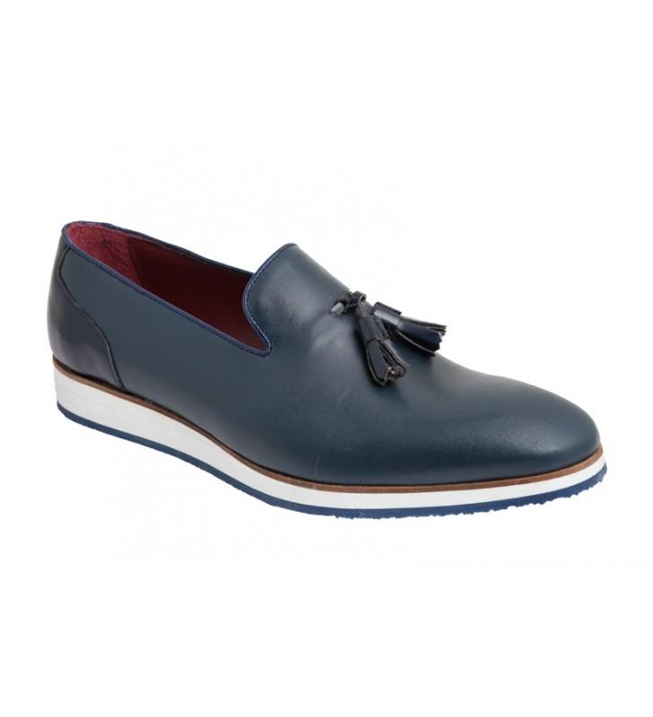 Zapatos hombre serraje azul 2