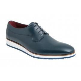 Zapatos hombre vestir casual azul cordones 1
