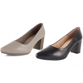 Zapatos salones mujer beig 1