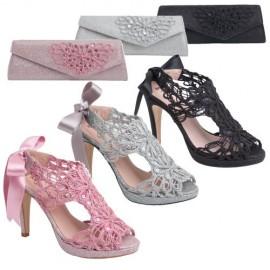 Zapato mujer fiesta rosa