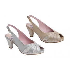 Zapatos mujer ancho especial champán