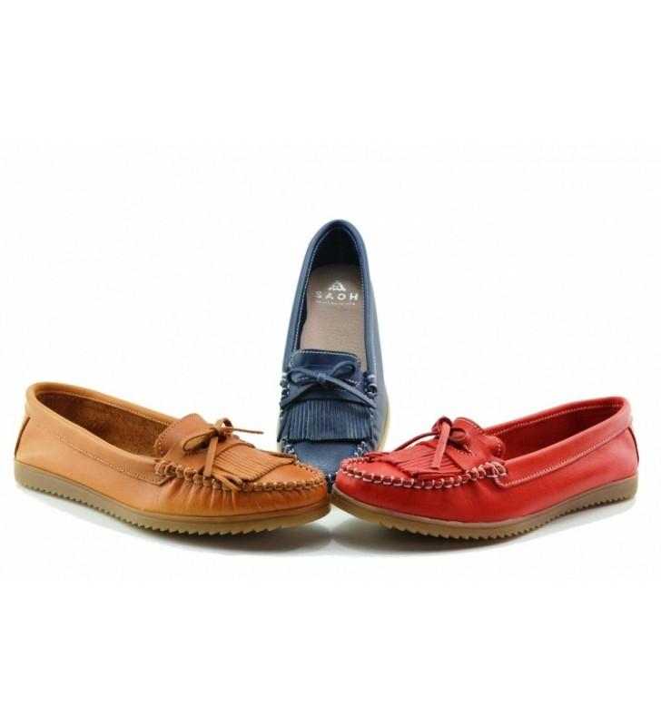 Zapatos mocasines piel mujer