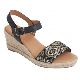 Sandals woman wedge half esparto 2