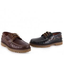 Zapatos Náuticos Mujer Piel