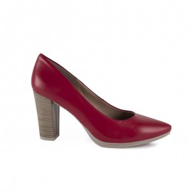 Women's Leather Salons red
