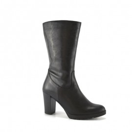 Women's Leather Boot Black Heel bda 1