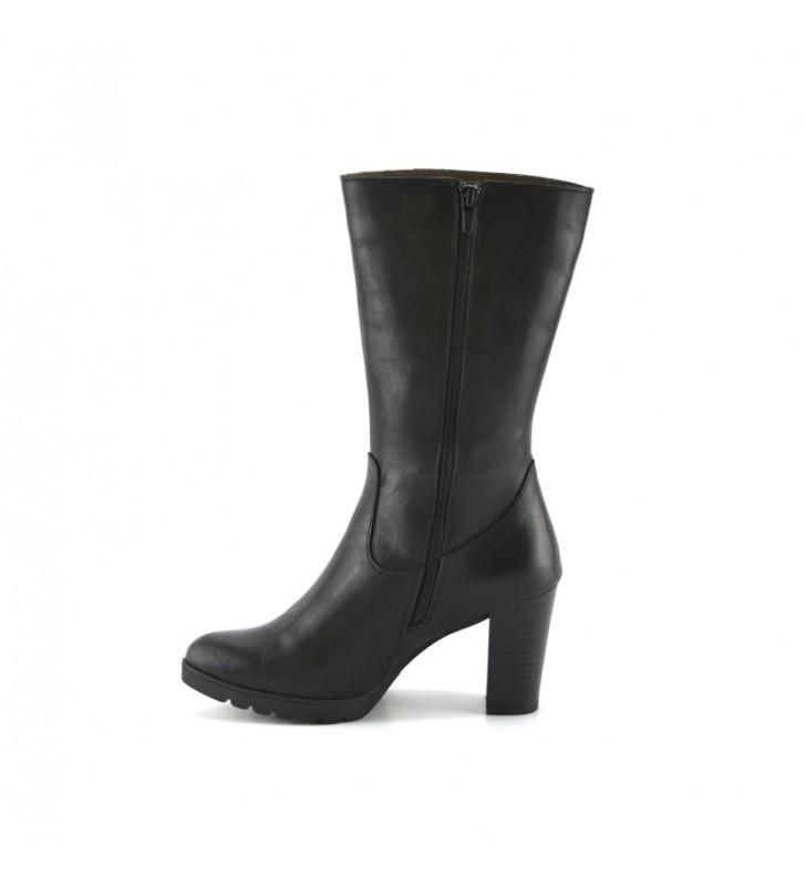 Women's Leather Boot Black Heel bda 2