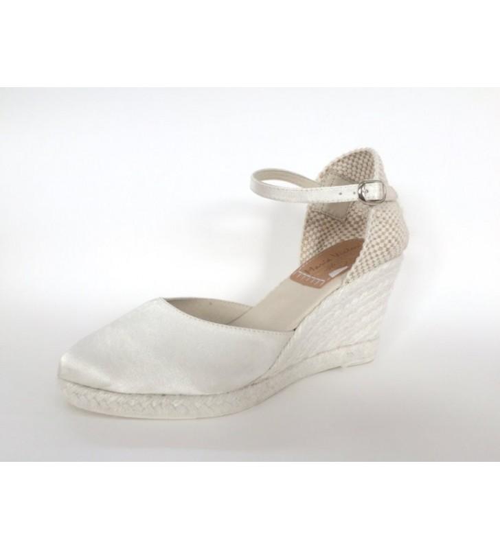 comprar popular 538fa c774b Zapato Novia Cuña Yute