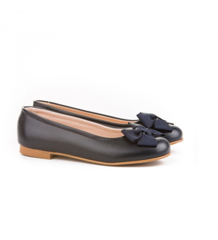 Ballerinas Girl of Marine Leather Angelitos