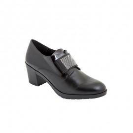 Zapato Mujer Vestir Piel Negro