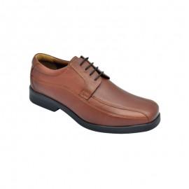 Zapato Hombre Cómodo Ancho Especial Cuero