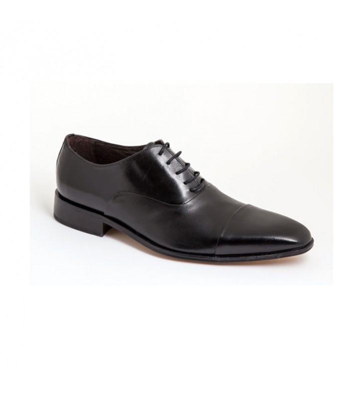 04a3a615 Zapatos Hombre Vestir Negro Piel