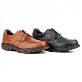 Man derby leather shoes laces