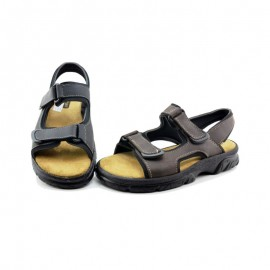 Genuine leather gel sandal
