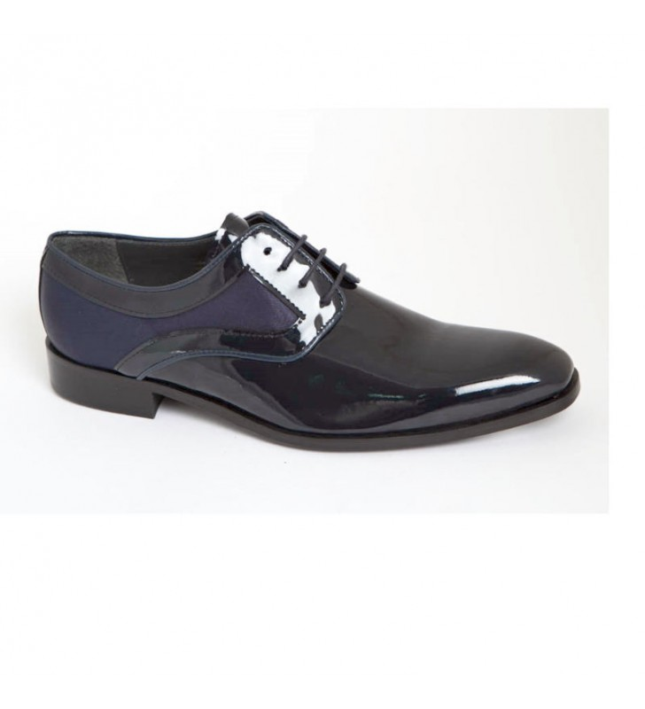 Boyfriend Shoes Patent Leather and Satin