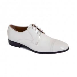 Zapatos Hombre Charol Blanco