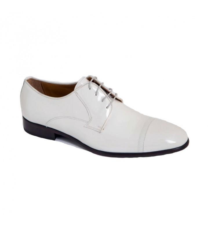 3cda9e0d Zapatos Hombre Charol Blanco