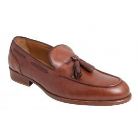 Zapato Hombre Piel Borlas