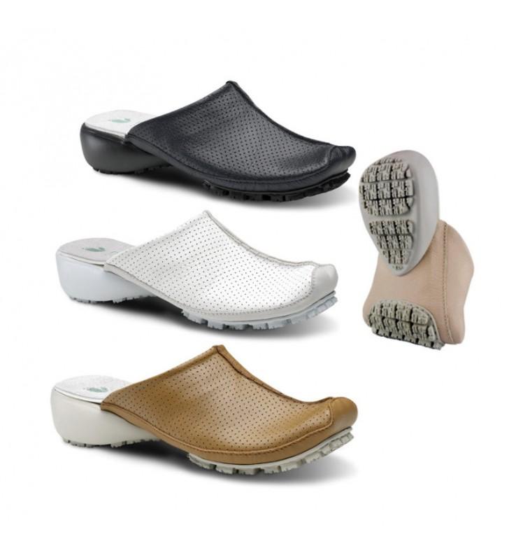 zapatos deportivos 412d6 696fa Zuecos Mujer Trabajo Cómodos Piel