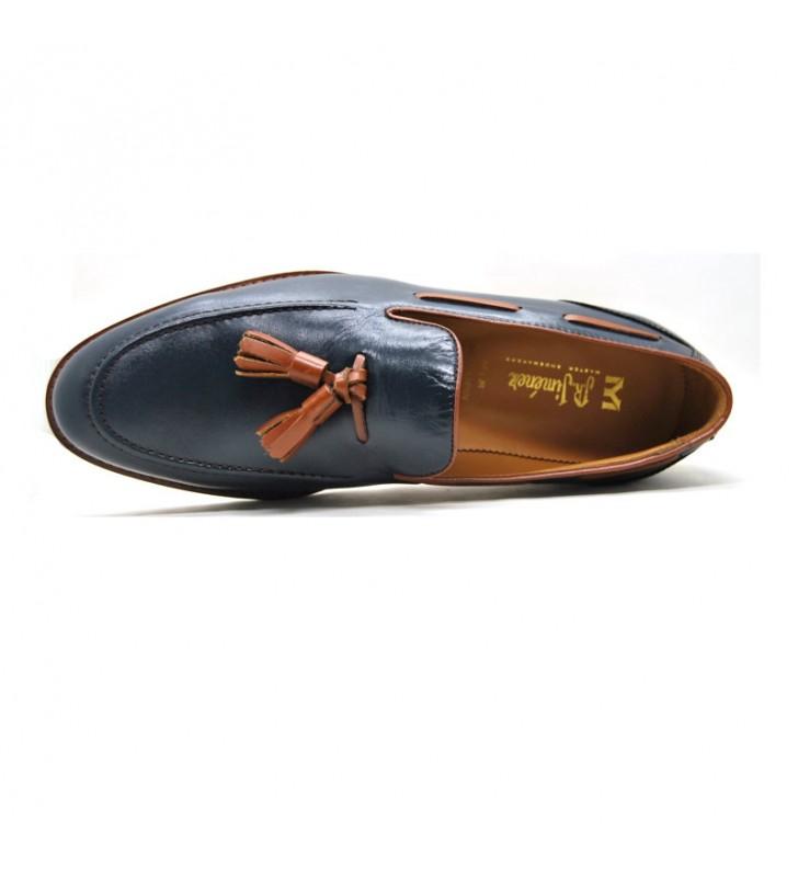 Zapatos hombre borlas piel
