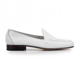 White moccasin man shoe