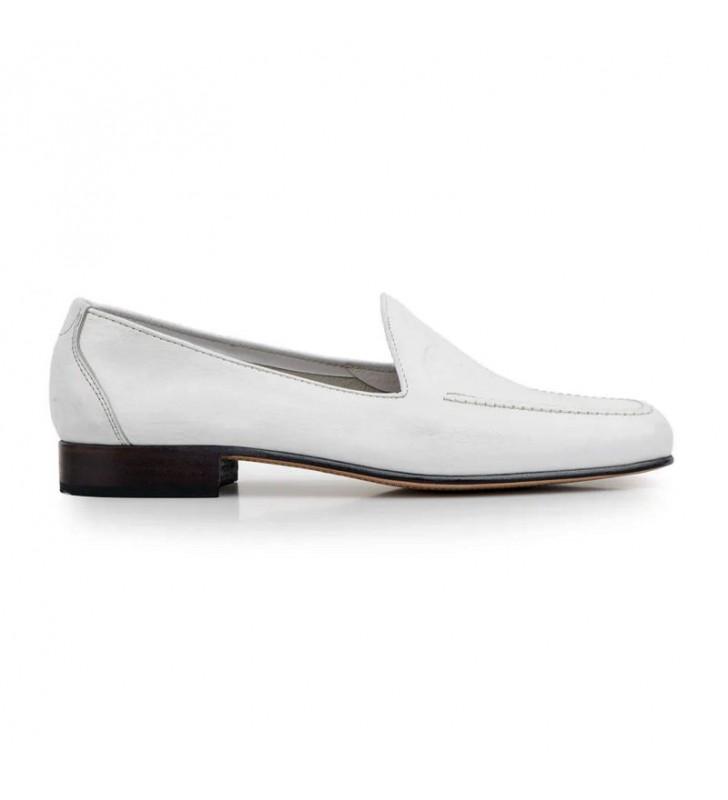 Zapato hombre mocasín blanco