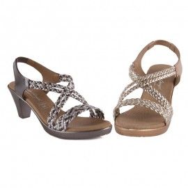 Sandal with comfortable heel