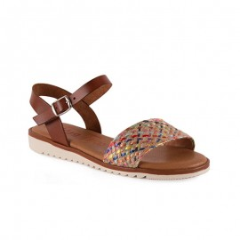 Woman flat leather sandal 1