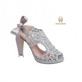 Zapato mujer fiesta plata