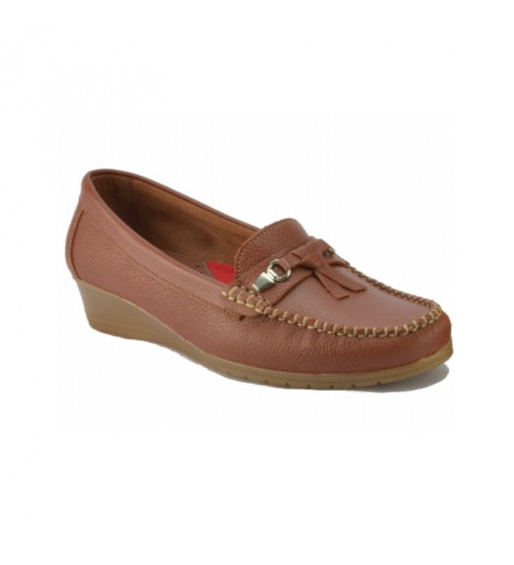 Woman skin moccasins wedge 1