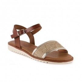 Woman flat sandals gel plant