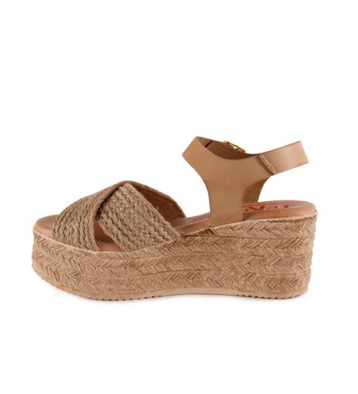 Woman jute platform sandal 2