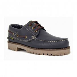 Navy Leather Boat Shoe 1