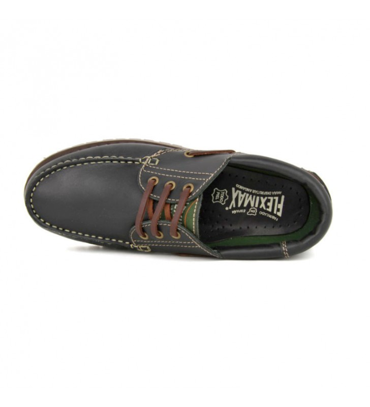 Black Leather Boat Shoes 2