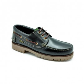 Black Leather Boat Shoes
